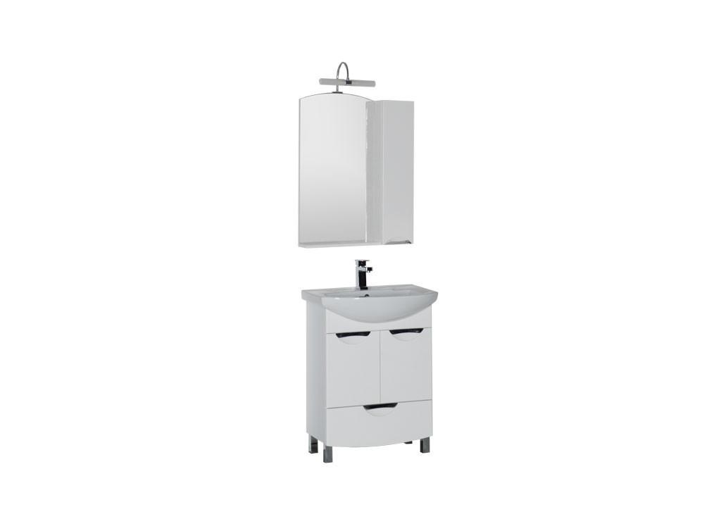 Комплект мебели Aquanet Парма 65 белый (1 ящик 2 дверцы)Комплекты мебели для ванной<br><br><br>Длина мм: 0<br>Высота мм: 0<br>Глубина мм: 0<br>Цвет: Белый