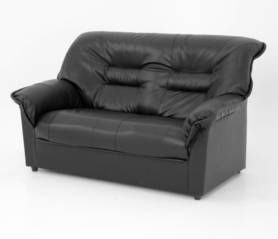 Диван в-100 2х местныйДиваны и кресла<br><br><br>Длина мм: 140<br>Высота мм: 880<br>Глубина мм: 880<br>Цвет: Кожзам/Черный