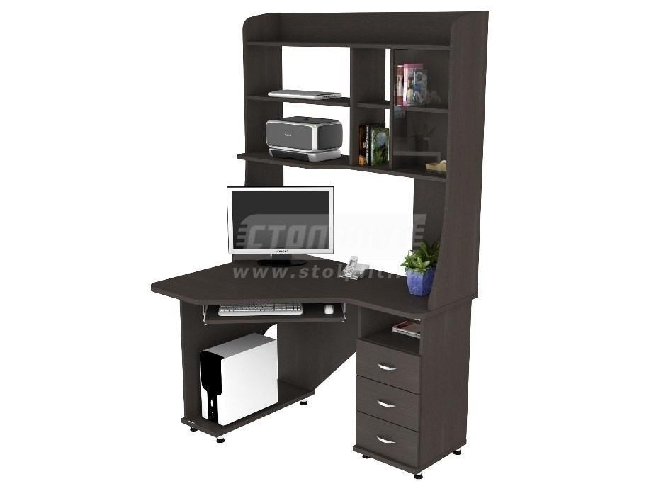 Стол компьютерный КС 2029м1Компьютерные столы<br><br><br>Длина мм: 1200<br>Высота мм: 1970<br>Глубина мм: 890<br>Цвет: Венге