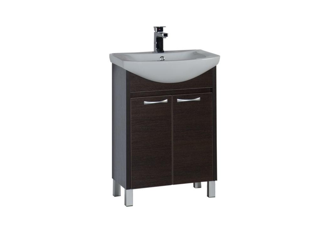 Тумба Aquanet Донна 60  (2 дверцы)Тумбы с раковиной для ванны<br><br><br>Длина мм: 0<br>Высота мм: 0<br>Глубина мм: 0<br>Цвет: Венге
