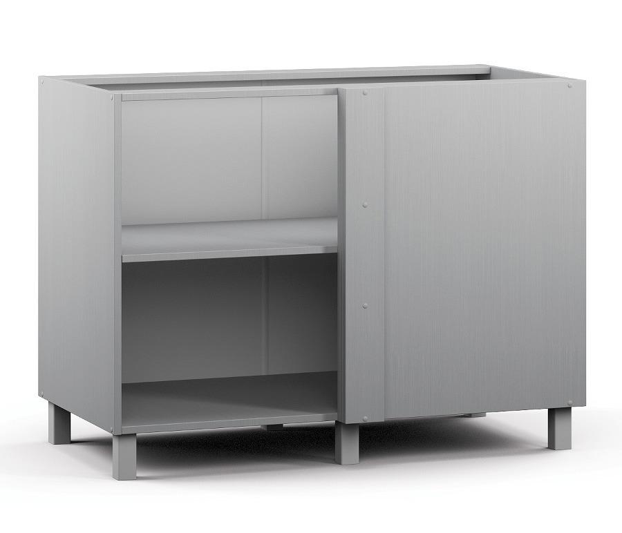 Анна АСП-100 Шкаф-Стол приставной (правый/левый)Мебель для кухни<br>Корпус приставного шкафа с широкой полкой.<br><br>Длина мм: 1087<br>Высота мм: 820<br>Глубина мм: 563