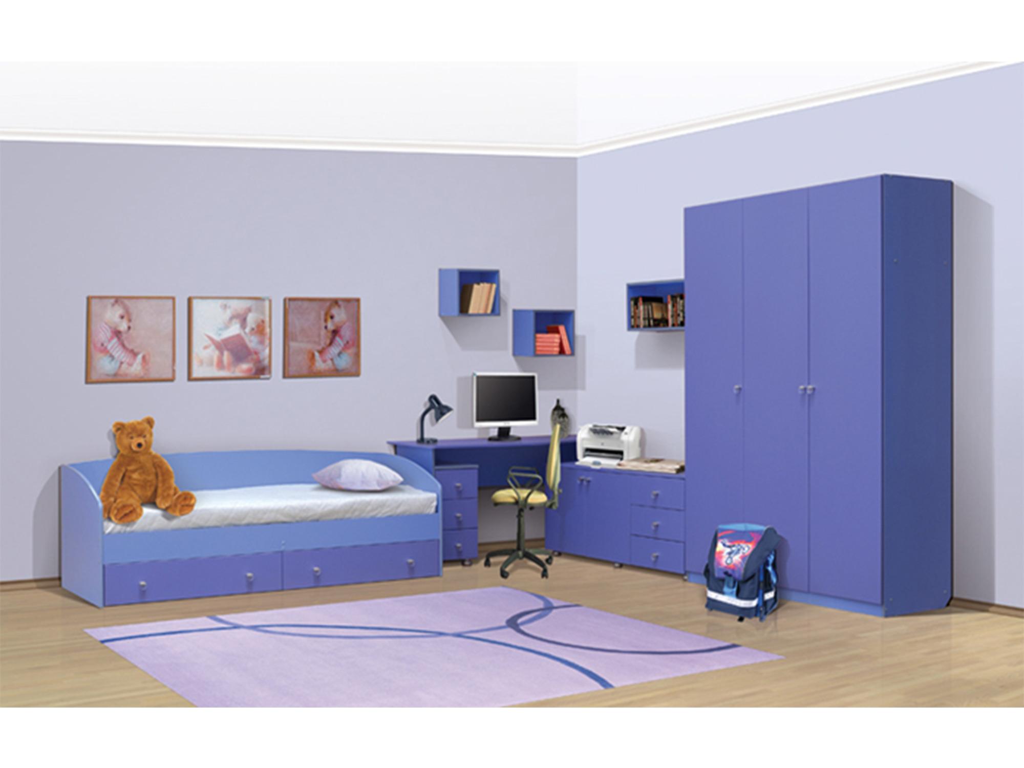 Спальный гарнитур ЛицейДетские комнаты<br><br><br>Длина мм: 7290<br>Высота мм: 2100<br>Глубина мм: 520