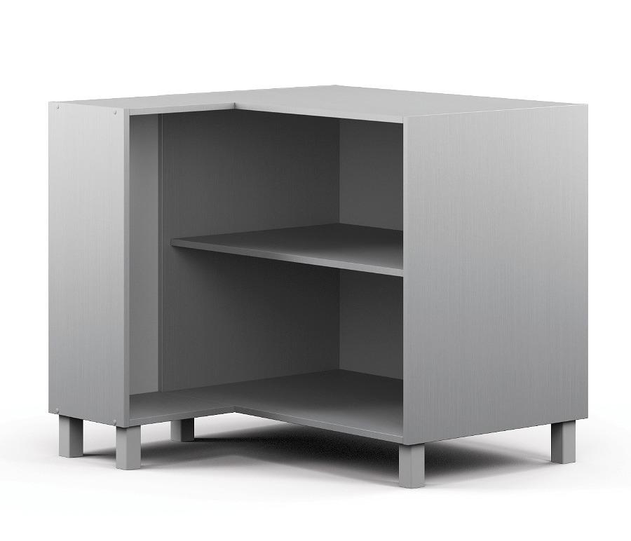 Анна АСУ-90 Шкаф-Стол угловой (правый/левый)Мебель для кухни<br>Корпус просторного углового шкафа для кухни.&#13;Ширина узкого бока: 298мм.<br><br>Длина мм: 883<br>Высота мм: 820<br>Глубина мм: 883