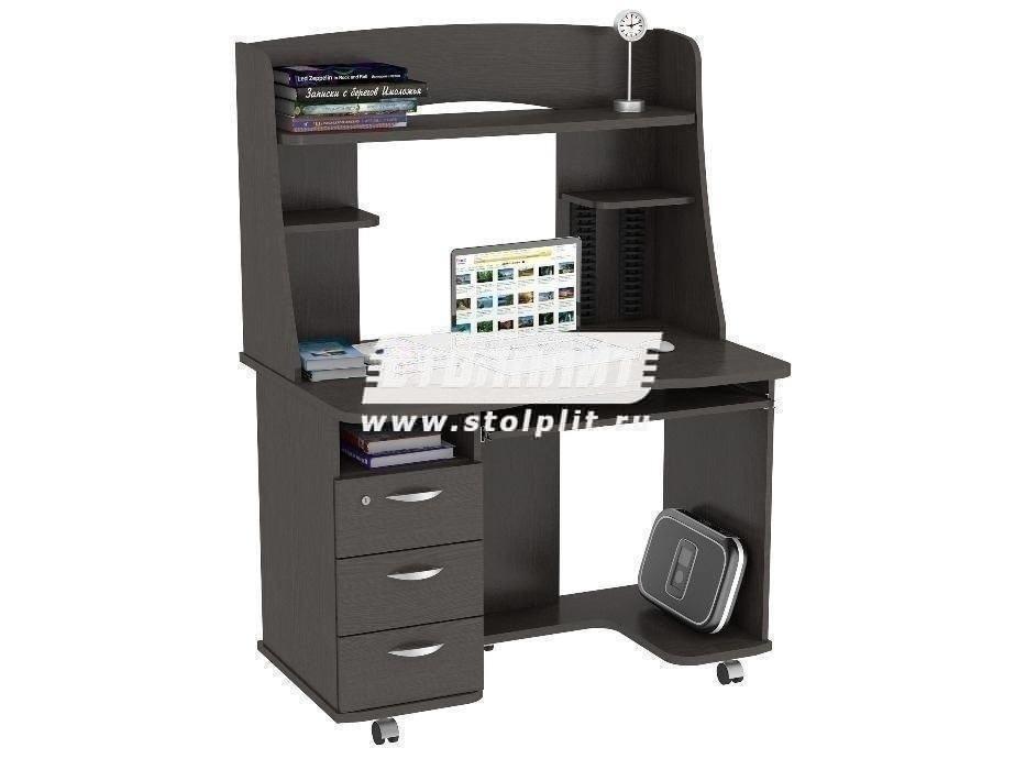 Стол компьютерный КС 2021м1Компьютерные столы<br><br><br>Длина мм: 1100<br>Высота мм: 1520<br>Глубина мм: 700<br>Цвет: Венге