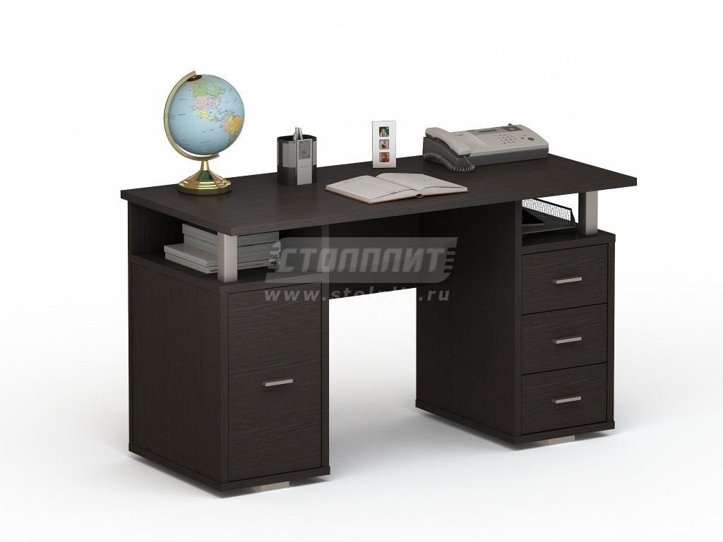 Стол письменный ПС 4007Письменные столы<br><br><br>Длина мм: 1300<br>Высота мм: 750<br>Глубина мм: 600<br>Цвет: Венге