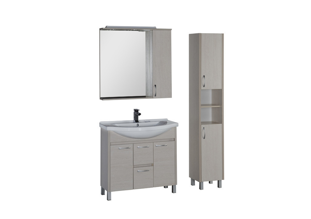 Комплект мебели Aquanet Донна 90 белый дубКомплекты мебели для ванной<br><br><br>Длина мм: 0<br>Высота мм: 0<br>Глубина мм: 0<br>Цвет: Белый дуб
