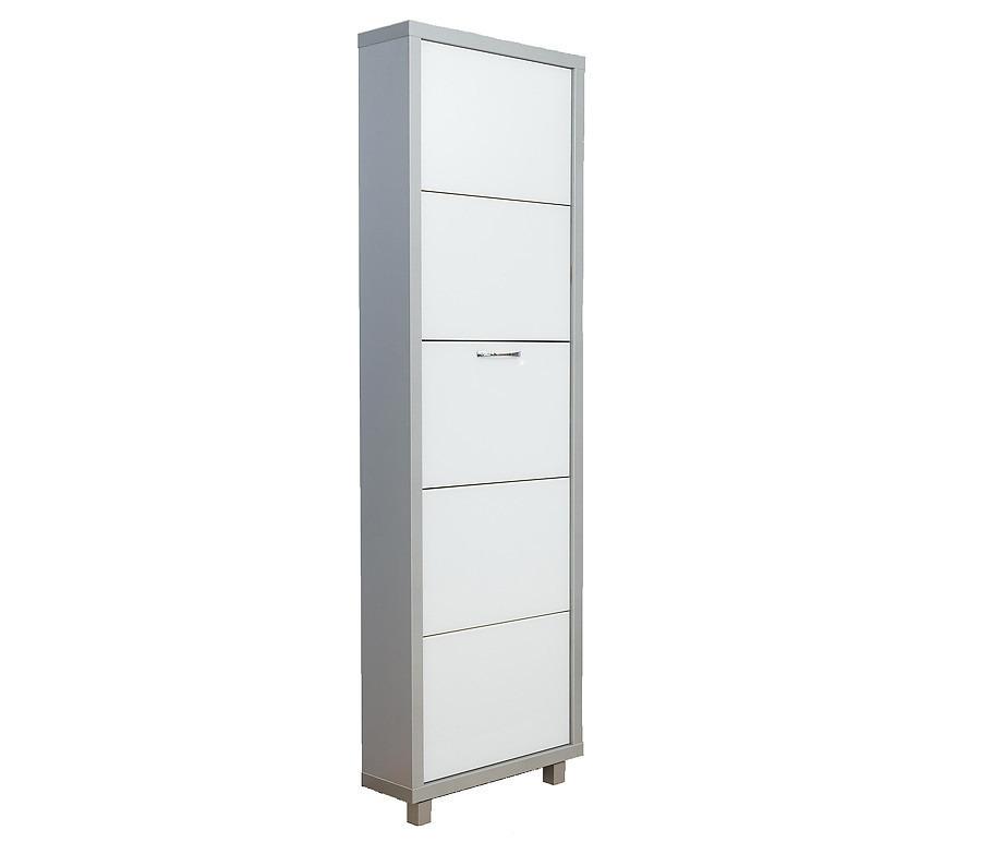 Шкаф обувной люкс стекло белое 5С