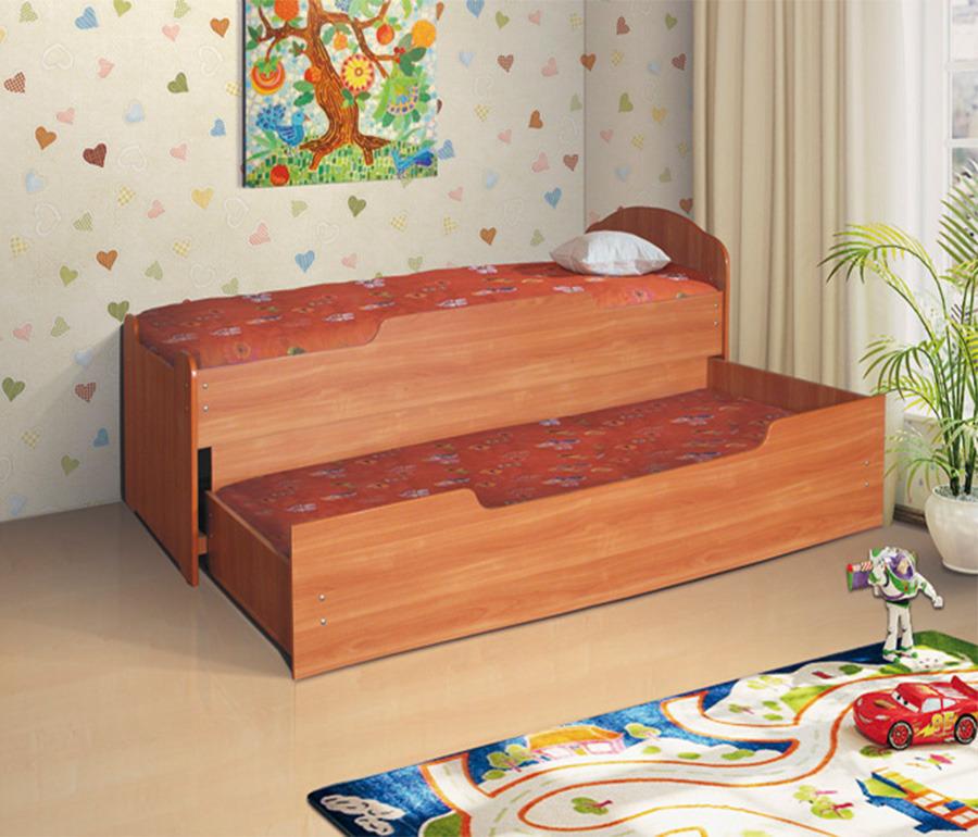 Кровать выдвижная 900-800Детские кровати<br><br><br>Длина мм: 970<br>Высота мм: 900<br>Глубина мм: 2040