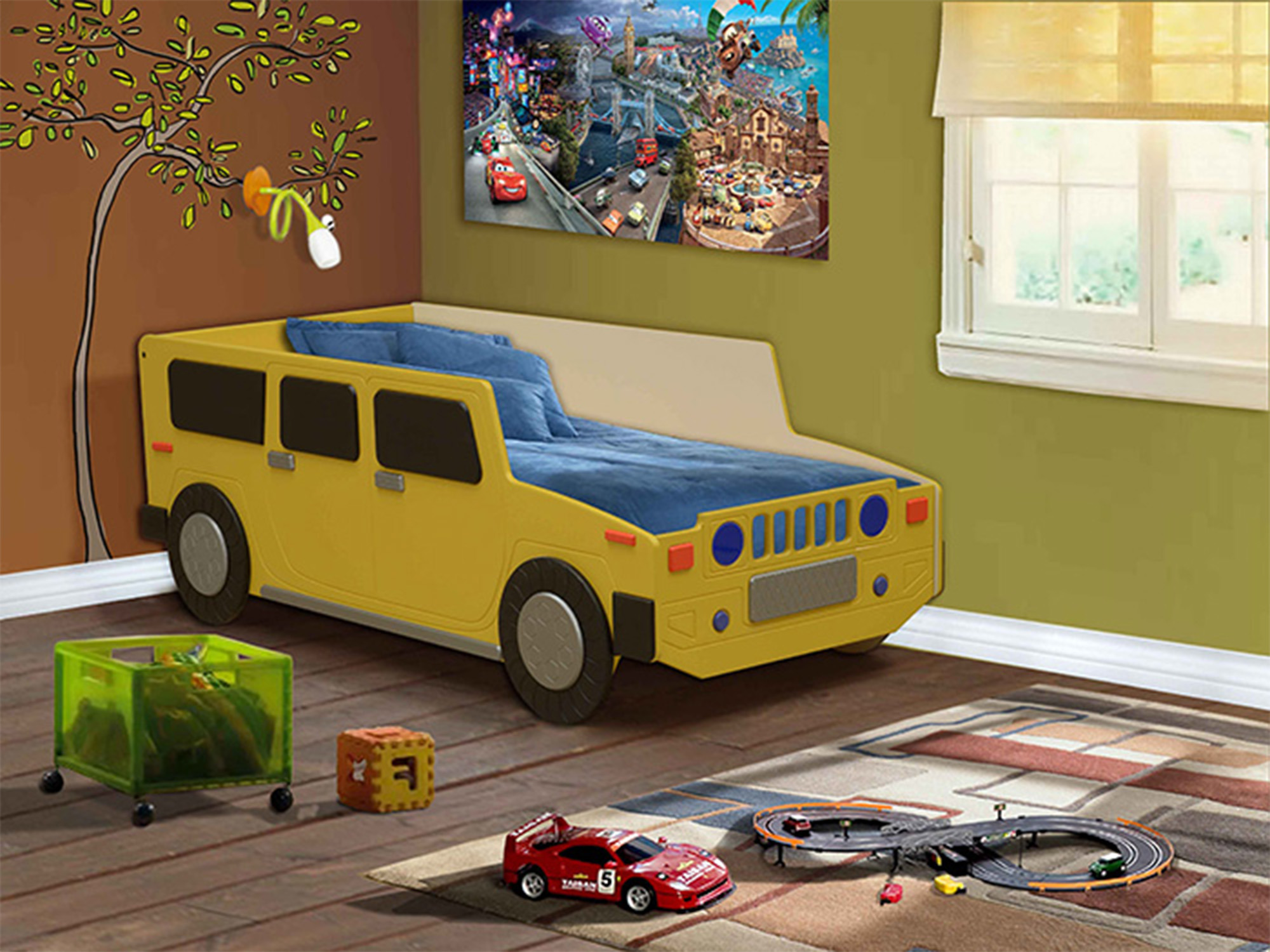 Кровать ХаммерДетские кровати<br><br><br>Длина мм: 840<br>Высота мм: 520<br>Глубина мм: 1900