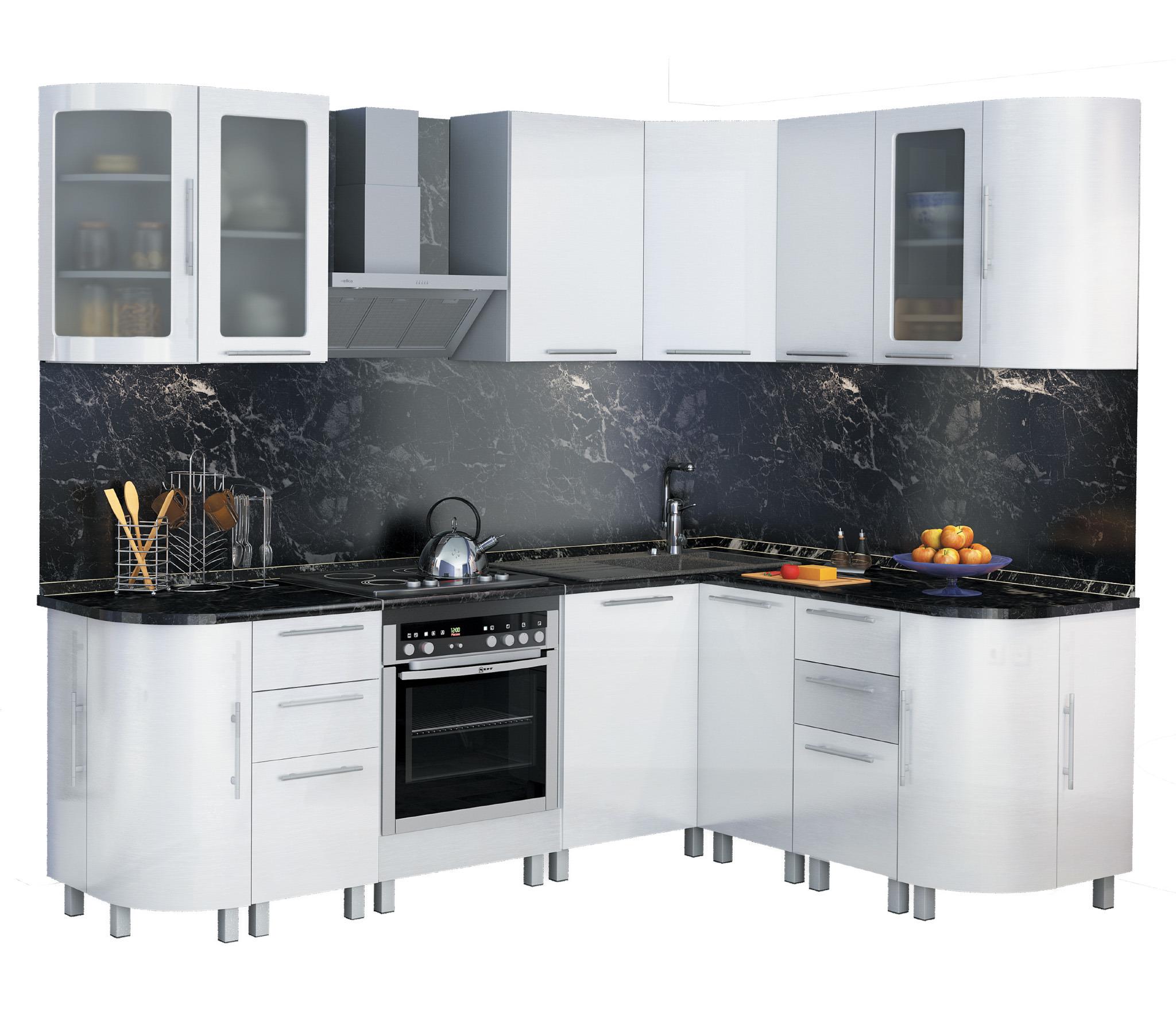 Анна Кухня угловая 2400*1700 Белый глянецКухонные гарнитуры<br><br><br>Длина мм: 0<br>Высота мм: 0<br>Глубина мм: 0