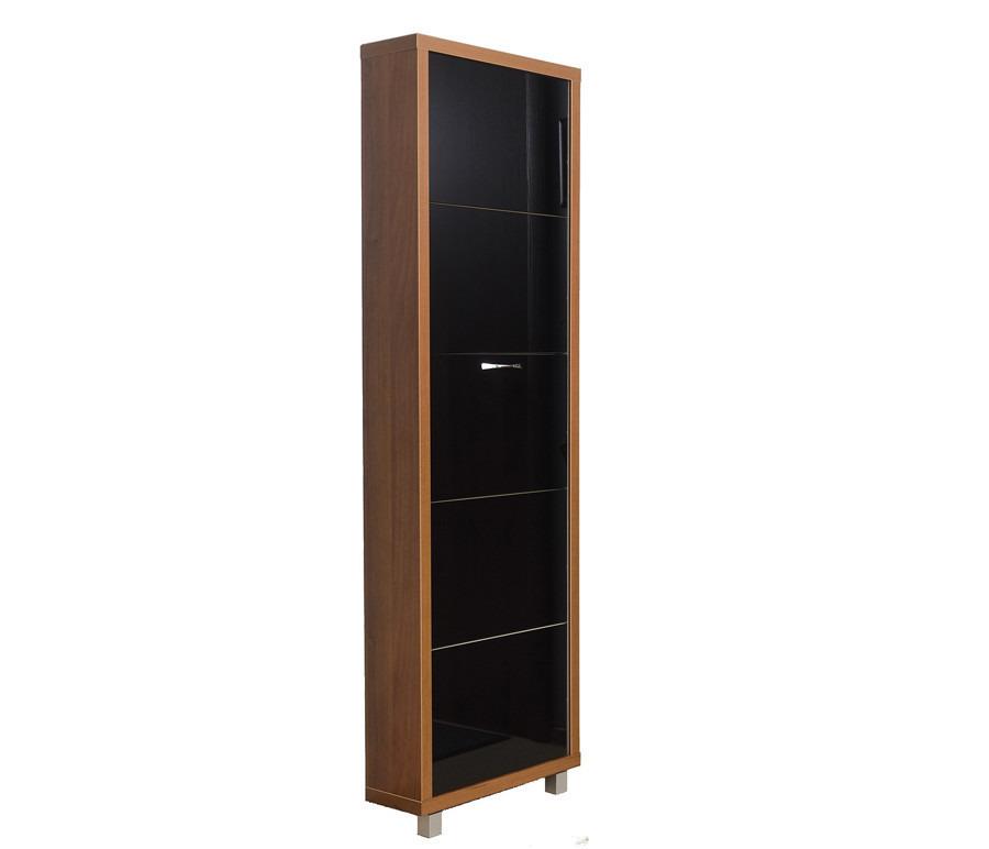 Шкаф обувной люкс стекло черное 5С