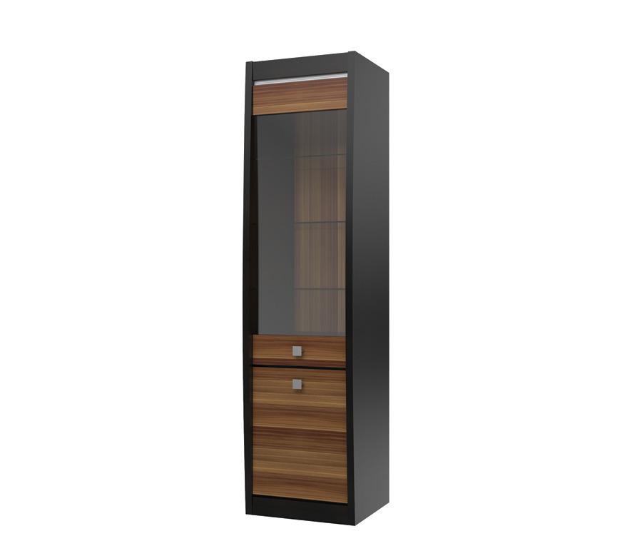 Ксено (Корсика) СТЛ.078.04 Шкаф 2-х дверный со стекломШкафы<br><br><br>Длина мм: 548<br>Высота мм: 1994<br>Глубина мм: 445
