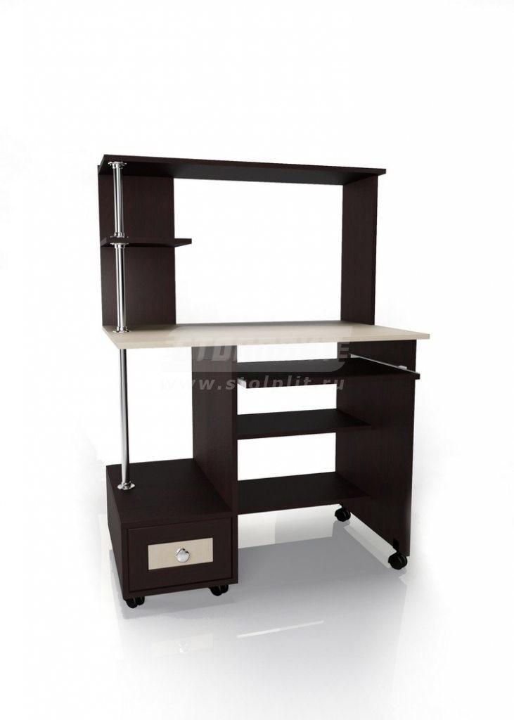 Стол для компьютера МБ – 22Кабинет<br><br><br>Длина мм: 900<br>Высота мм: 1300<br>Глубина мм: 600
