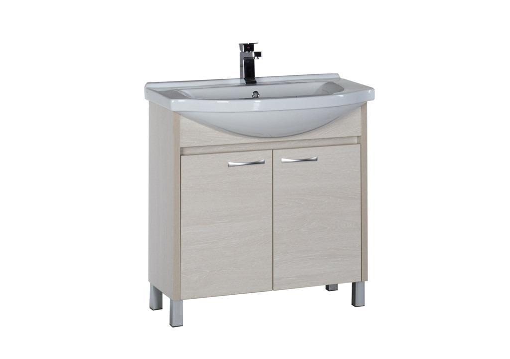 Тумба Aquanet  Донна 80Тумбы с раковиной для ванны<br><br><br>Длина мм: 0<br>Высота мм: 0<br>Глубина мм: 0<br>Цвет: Белый дуб