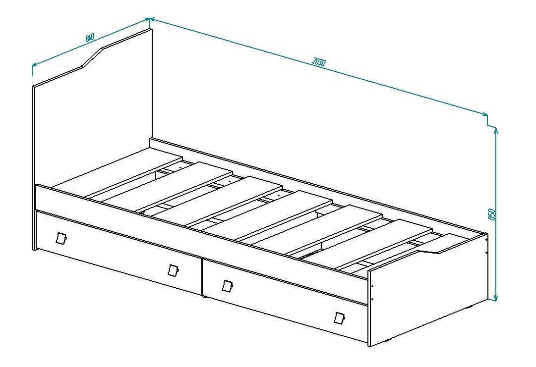 Кровать для детской КР-25 от Столплит