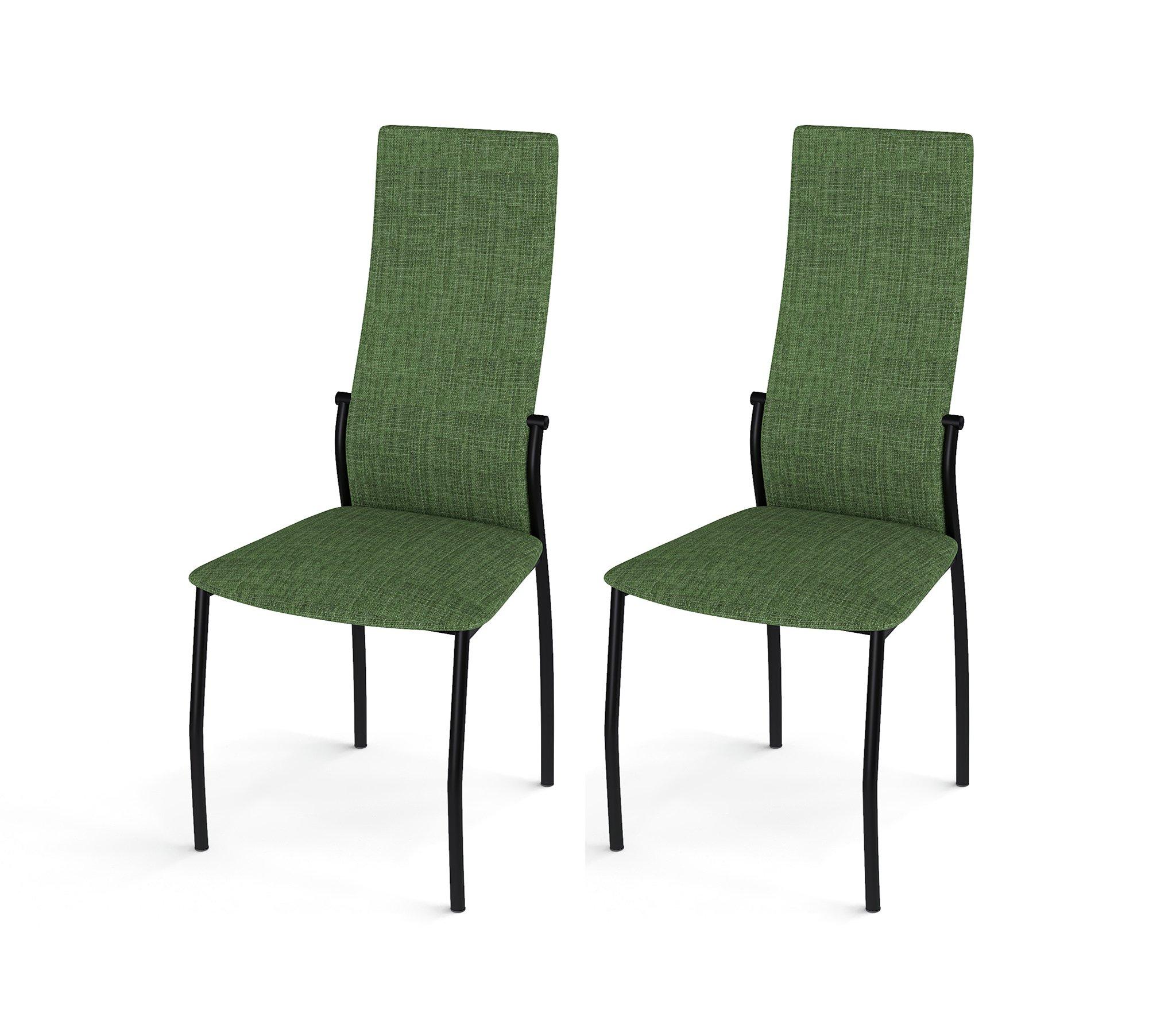 Стул Галс черный каркас, ткань №16 зеленый (в комплекте 2 шт.) недорого
