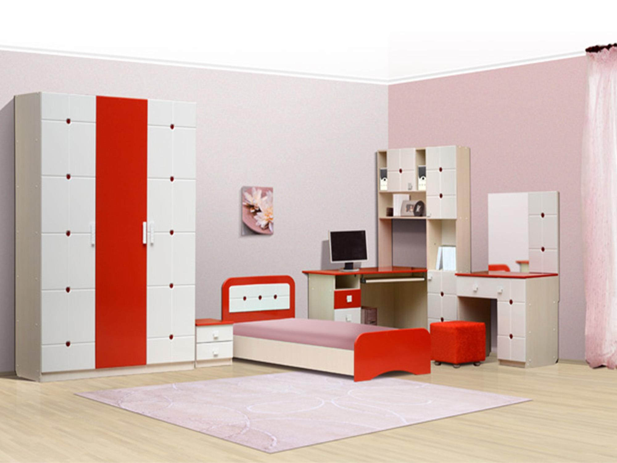 Спальный гарнитур Лицей-1Детские комнаты<br><br><br>Длина мм: 5005<br>Высота мм: 2100<br>Глубина мм: 1950