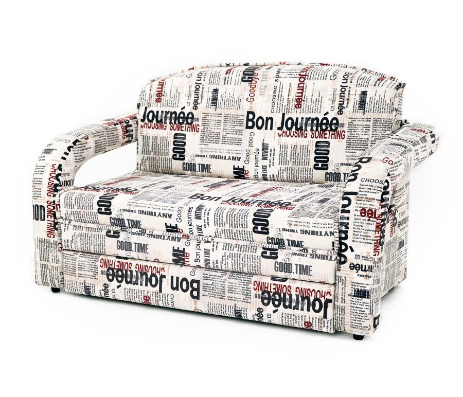 Диван Квинт Шенил 100Диваны и кресла<br><br><br>Длина мм: 1270<br>Высота мм: 820<br>Глубина мм: 950<br>Цвет: Газета