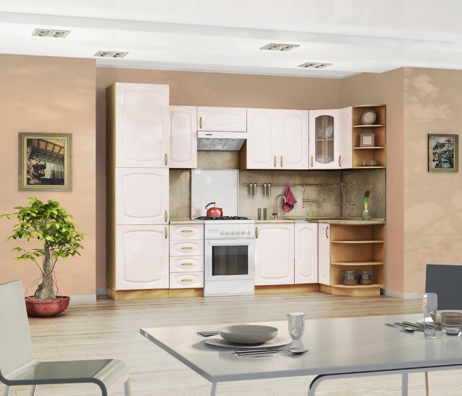 Кухонный гарнитур Оля 5Кухонные гарнитуры<br>Цена указана за комплект столов и полок.<br><br>Длина мм: 3000<br>Высота мм: 820<br>Глубина мм: 600
