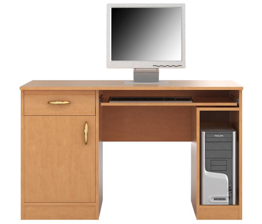 Симба С-14 Стол компьютерныйДетские парты, столы и стулья<br>Удобный компьютерный стол   необходимый предмет современного интерьера.<br><br>Длина мм: 1180<br>Высота мм: 750<br>Глубина мм: 600