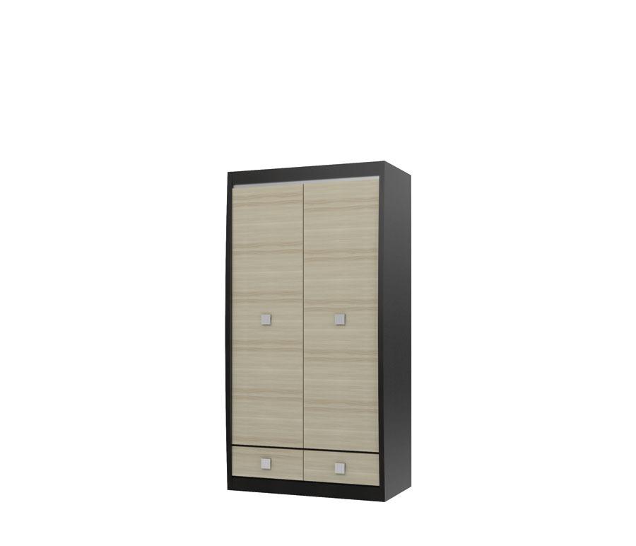 Ксено СТЛ.078.08 Шкаф 2-х дверный с 2-мя ящикамиШкафы<br><br><br>Длина мм: 1032<br>Высота мм: 1994<br>Глубина мм: 593
