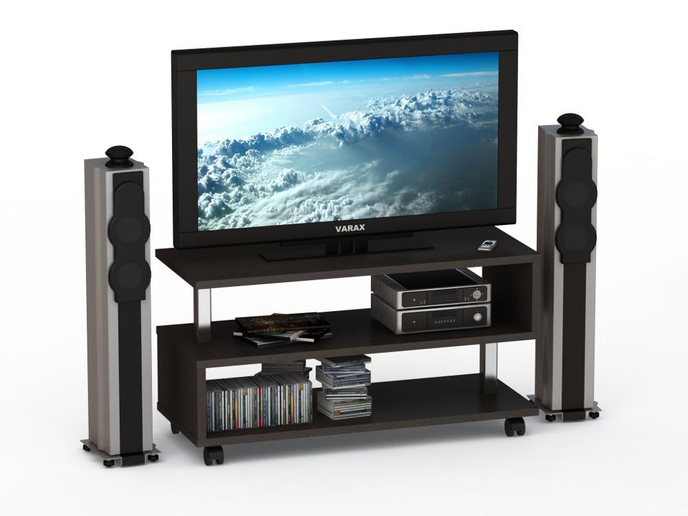 Тумба для ТВ аппаратуры ВТ 1015ТВ-тумбы<br><br><br>Длина мм: 1000<br>Высота мм: 530<br>Глубина мм: 400