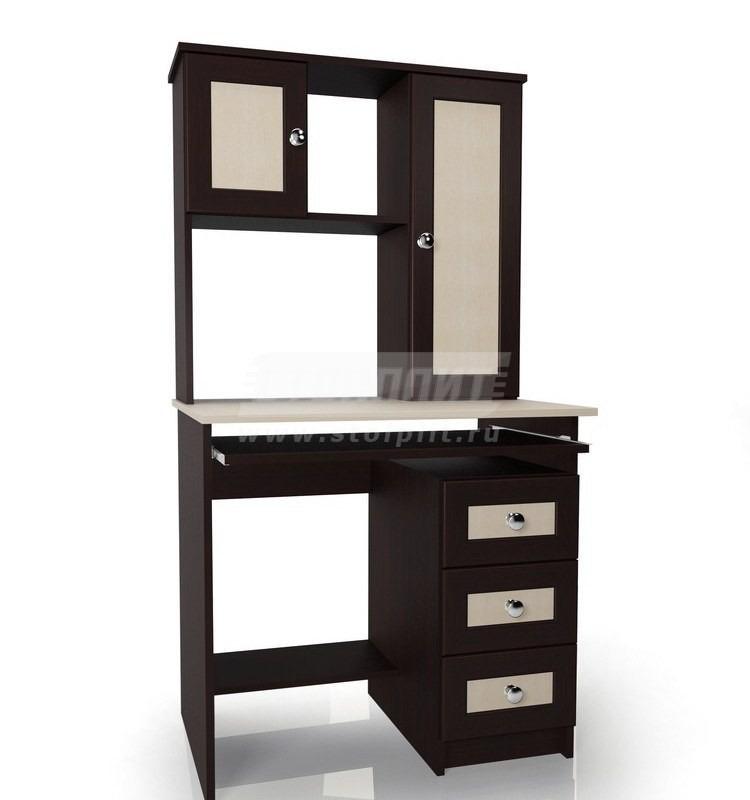 Стол для компьютера МБ – 36Компьютерные столы<br><br><br>Длина мм: 800<br>Высота мм: 1520<br>Глубина мм: 600<br>Цвет: Венге/ Молочный дуб