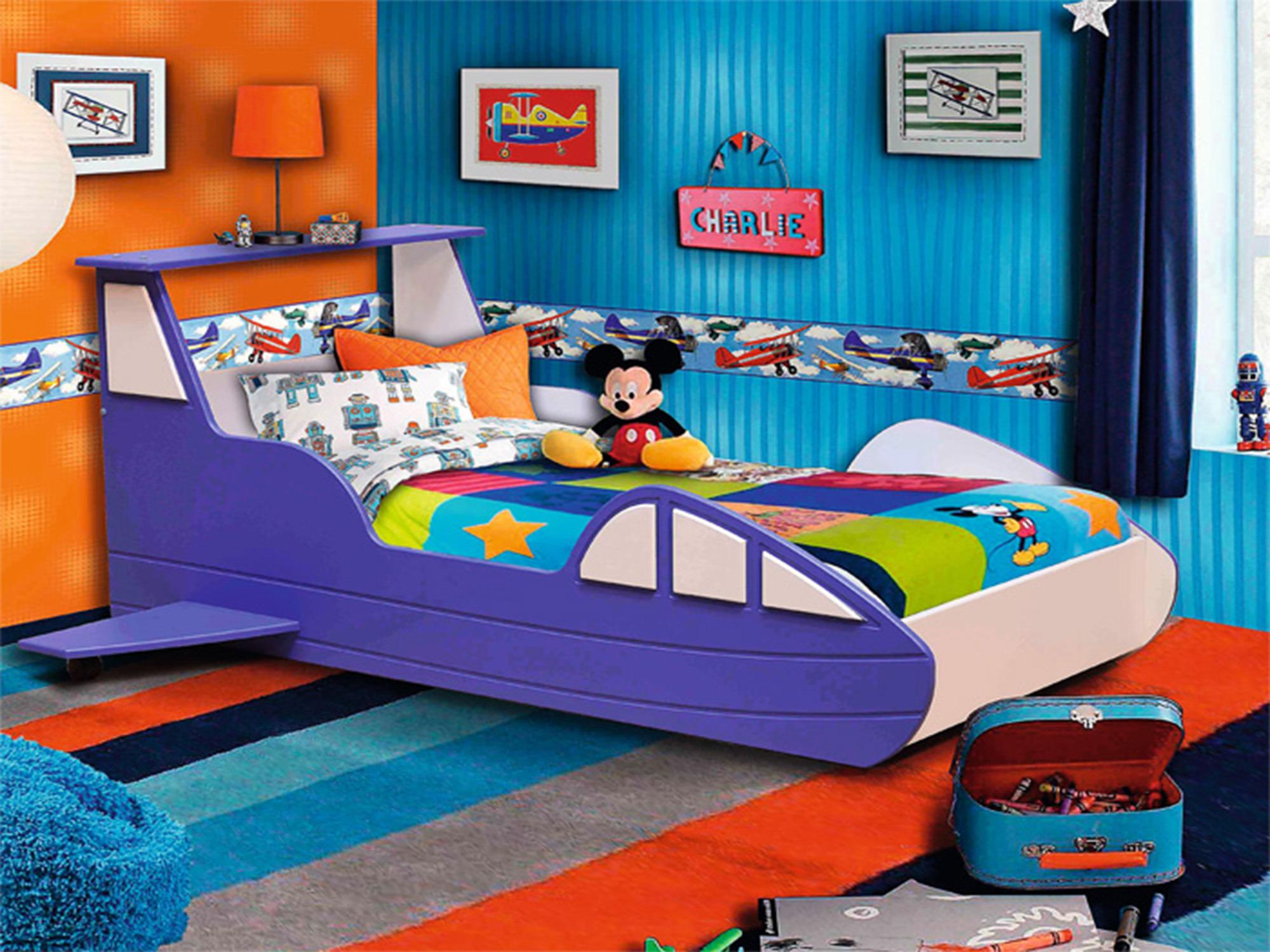 Кровать СамолетДетские кровати<br><br><br>Длина мм: 1790<br>Высота мм: 770<br>Глубина мм: 1810