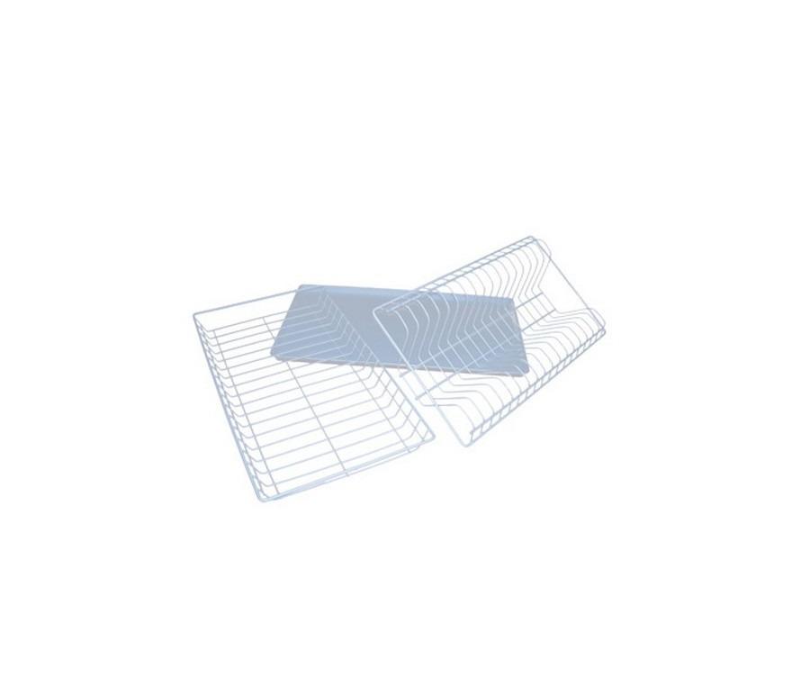 Сушка с поддоном 500Мойки, сушки, смесители<br>Если вы планируете складывать тарелки сразу после мытья в подвесную полку, оснастите ее металлической сушкой с поддоном.<br><br>Длина мм: 500<br>Высота мм: 25<br>Глубина мм: 300<br>Сушилки: true