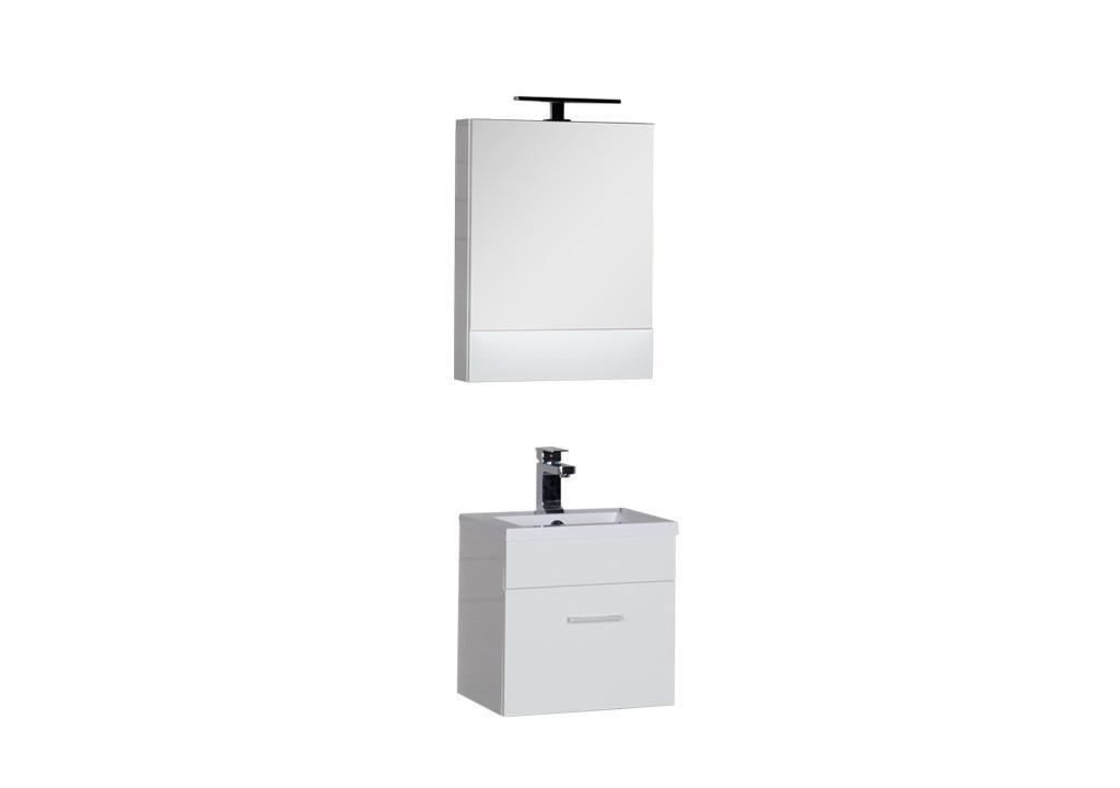 Комплект мебели Aquanet Нота 50 белыйКомплекты мебели для ванной<br><br><br>Длина мм: 0<br>Высота мм: 0<br>Глубина мм: 0<br>Цвет: Белый