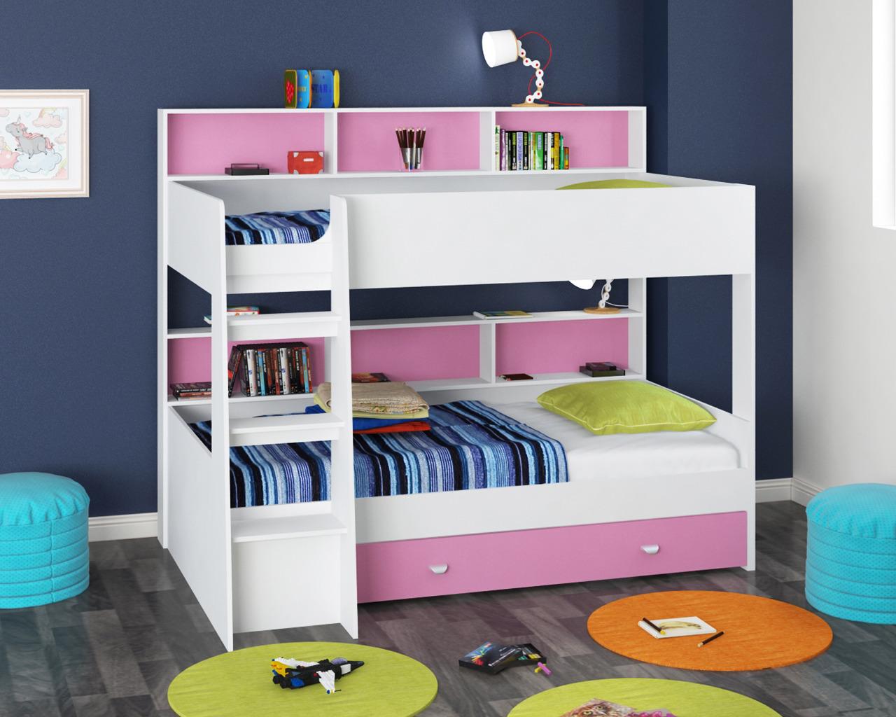 Набор мебели Golden Kids 1 кбКровати двухъярусные<br><br><br>Длина мм: 1830<br>Высота мм: 1400<br>Глубина мм: 2075