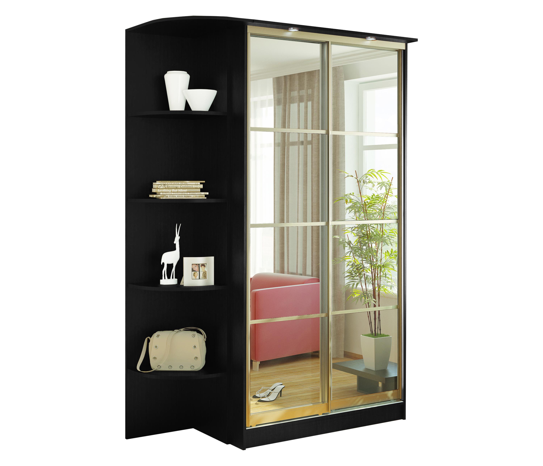 Шкаф 2-х дверный СБ-1082БП Дуб Феррара + торцевой шкафШкафы<br><br><br>Длина мм: 1664<br>Высота мм: 2420<br>Глубина мм: 704