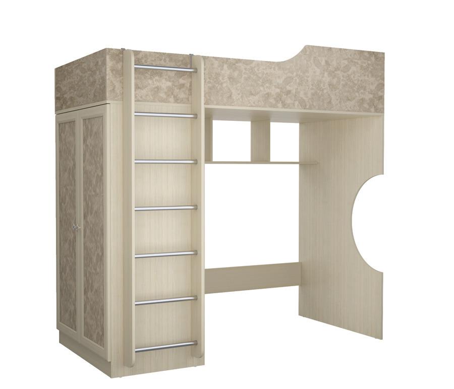 Дженни СТЛ.127.17 Кровать-чердакКровати<br>Дженни СТЛ.127.17   кровать-чердак, о которой мечтает каждый ребенок. Подарите ему толику приключений! Высокое качество материалов, устойчивая конструкция и удобная лестница гарантируют полную безопасность использования кровати, а ее ненавязчивый дизайн превращает модель  Дженни  в лучший вариант для оформления детской.&#13;Комната станет еще функциональнее, когда в ней появится кровать-чердак. Нежная расцветка идеальна для детской спальни: светлые оттенки оказывают благотворное влияние на эмоциональное состояние ребенка, обеспечивая ему ощущение спокойствия и защищенности. Мягкие сдержанные линии так выстраивают силуэт кровати, что она впишется в любой интерьер.&#13;Материалы&#13;  Материал корпуса: КДСП&#13;  Материал фасада: КДСП&#13;]]&gt;<br><br>Длина мм: 1942<br>Высота мм: 1960<br>Глубина мм: 945