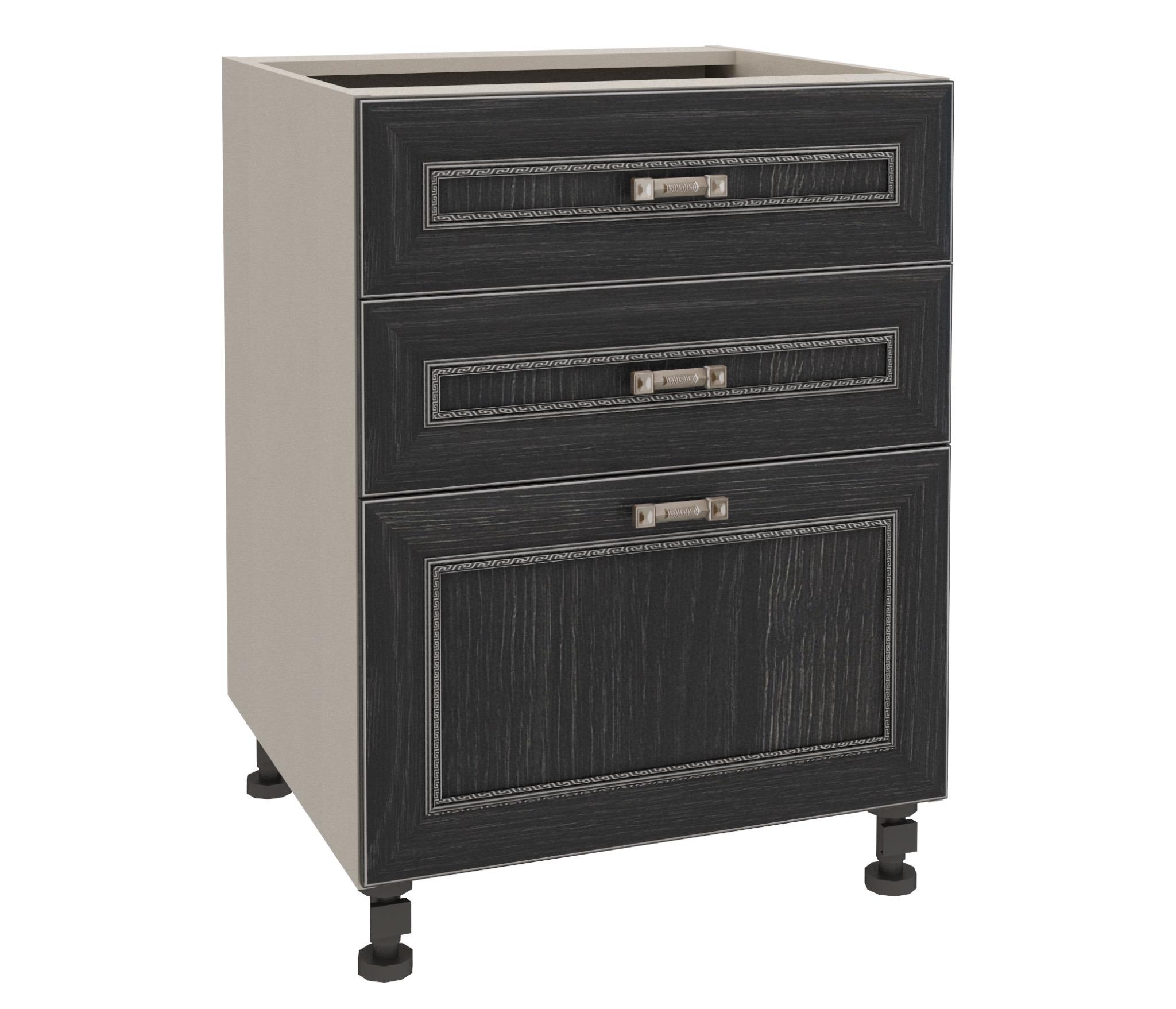 Регина РСЯ-360 Стол с ящикамиМебель для кухни<br>Регина РСЯ-360 Стол с ящиками   очень важная составляющая любой кухни. Здесь вы сможете разместить посуду, мелкую бытовую технику, продукты. Этот элемент мебели удачно дополняется любым приставным столом или подвесным шкафом (с витриной или непрозрачной дверцей, зависит от ваших предпочтений) из этой же серии, что позволит вам создать свою неповторимую кухню. Отдельно советуем приобрести столешницу, которая объединит разрозненные элементы коллекции в единое целое. Кухонная мебель  Регина  изготавливается из прессованной древесины с ламинированным покрытием. Такой способ обработки наделяет поверхность отличными защитными качествами.<br><br>Длина мм: 600<br>Высота мм: 820<br>Глубина мм: 563