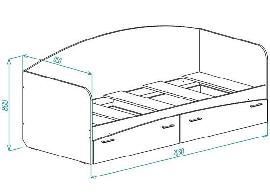 Кровать для детской КР-1 от Столплит