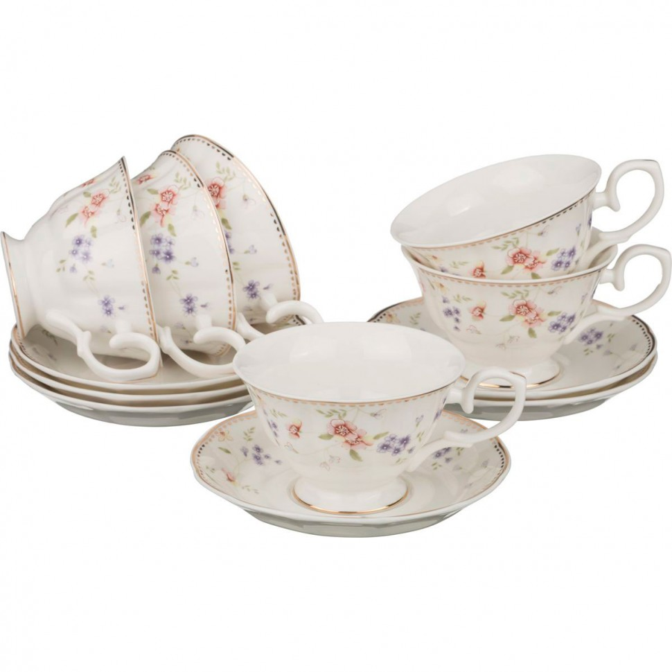Набор чайных пар из фарфора Lefard