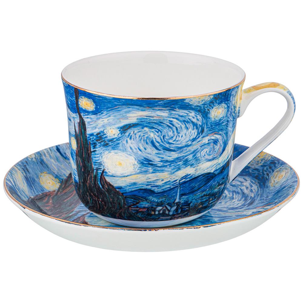 Фото - Чайная пара звездная ночь (В.Ван Гог)500 мл Lefard сервиз чайный из фарфора звездная ночь 2 предмета 104 649 lefard