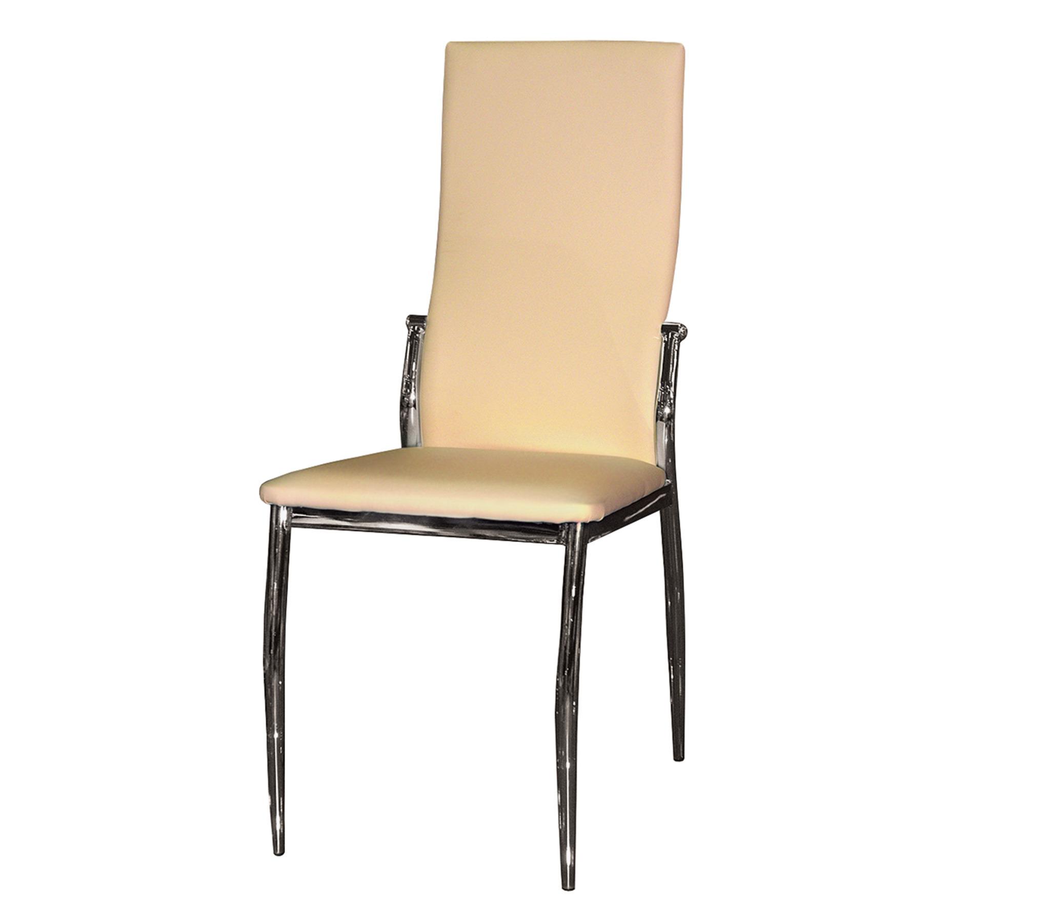 Стул Галс (Зевс) хром/бежевыйОбеденные группы<br>Материал корпуса: Металл&#13;Материал сидения: Искусственная кожа&#13;]]&gt;<br><br>Длина мм: 450<br>Высота мм: 1000<br>Глубина мм: 450