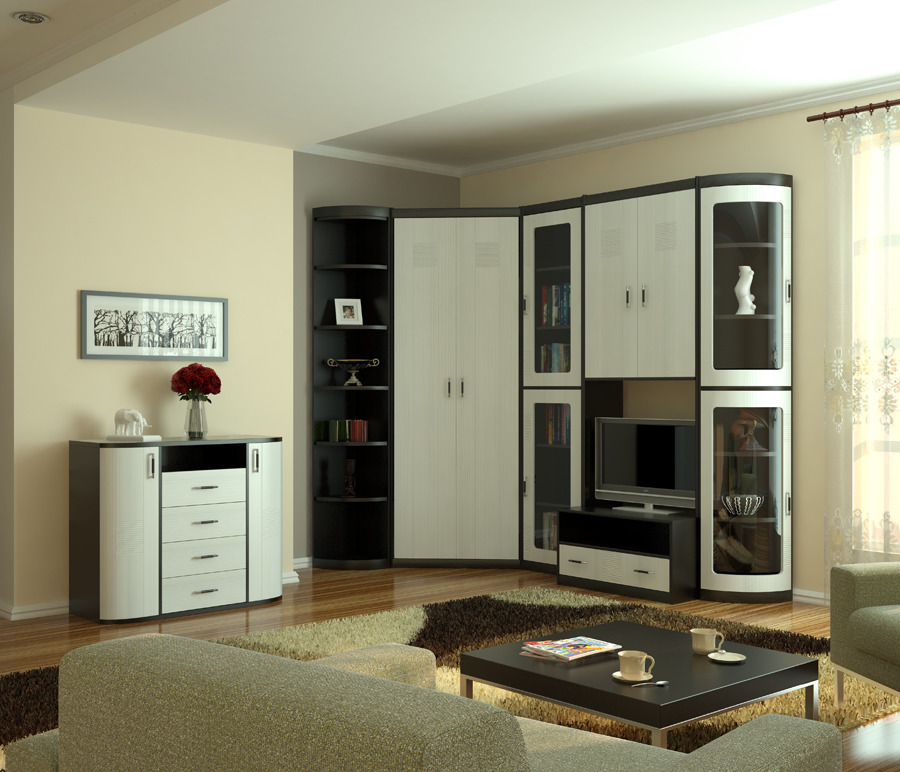 Сити Гостиная композиция 2Стенки для гостиной<br><br><br>Длина мм: 0<br>Высота мм: 0<br>Глубина мм: 0