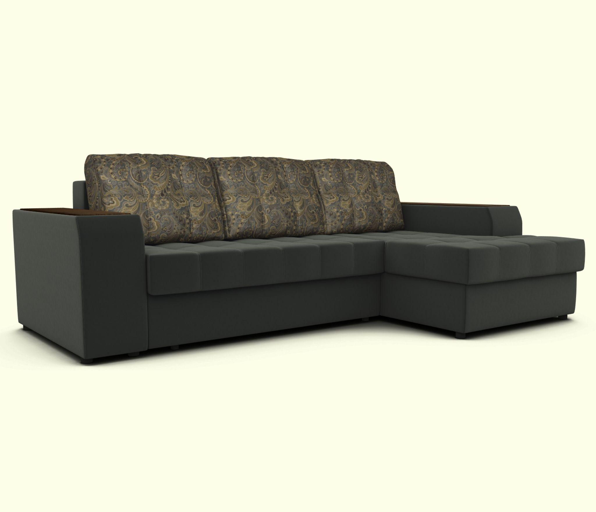 Угловой диван ЭДИНБУРГ с оттоманкой правый Столплит R0000248535