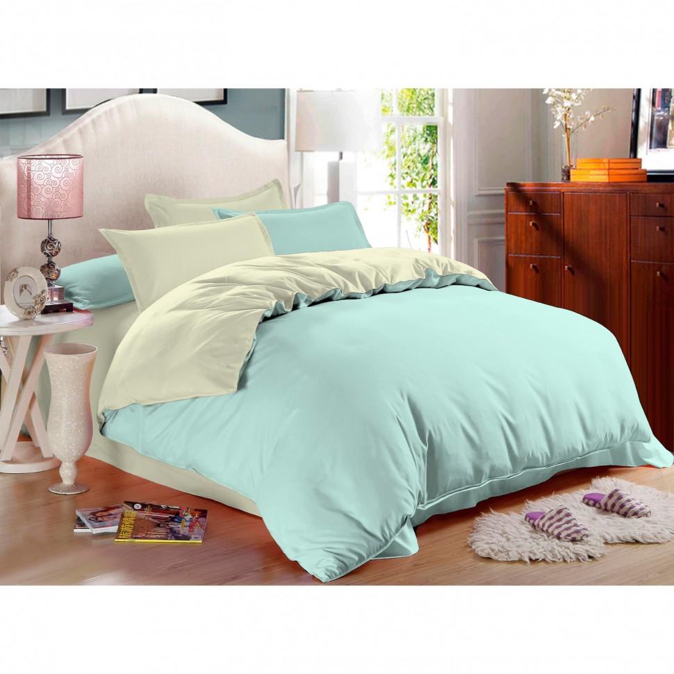 Комплект постельного белья евро Amore Mio Cascade сатин комплект постельного белья двуспальный евро amore mio arthur кофейный