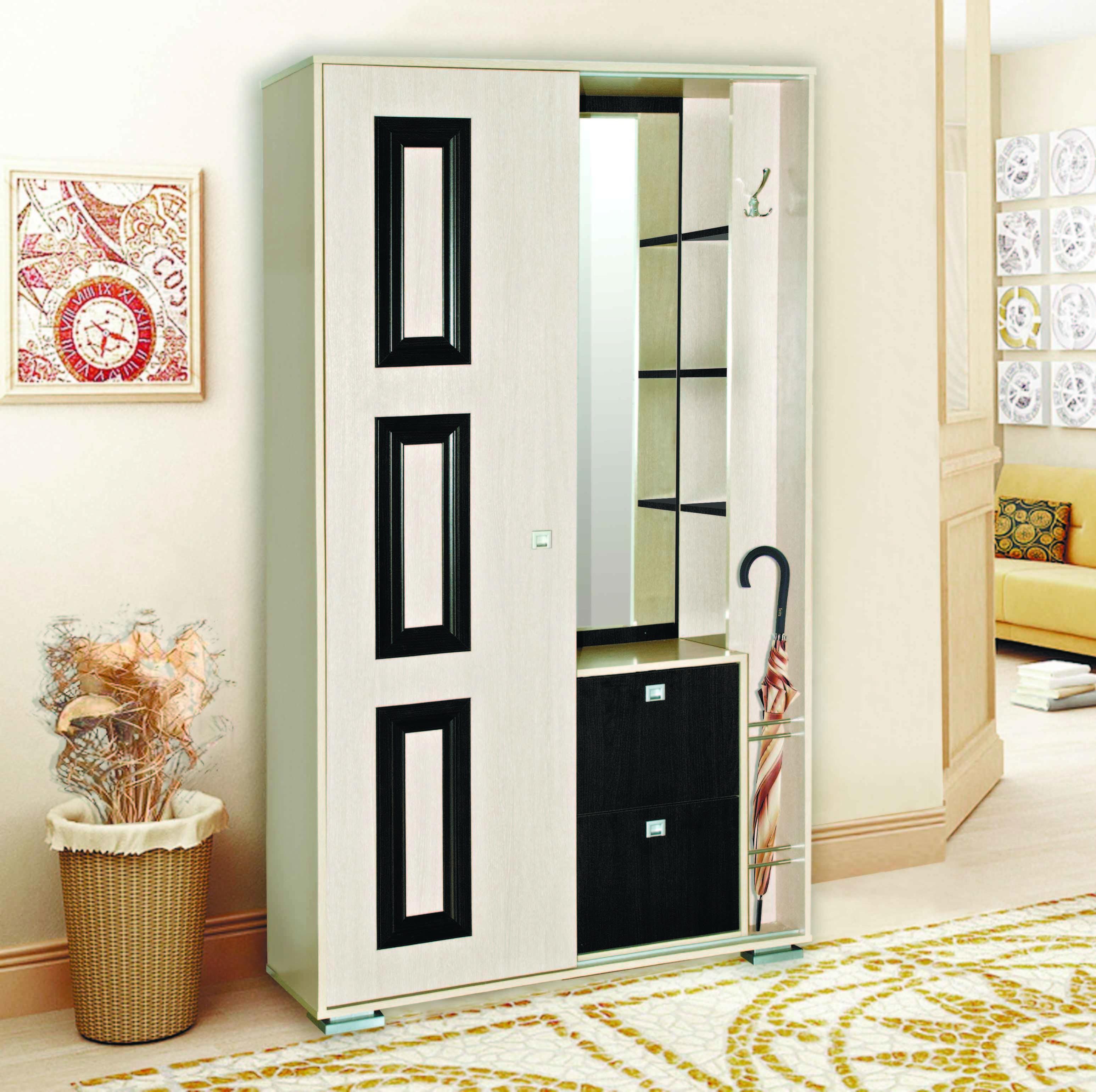 Визит - М19 шкаф комбинированный от Столплит