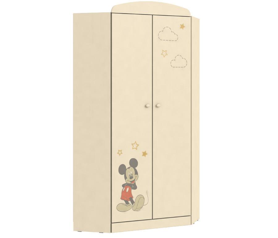 Денди Disney СБ-1424 Шкаф угловойУгловые шкафы<br>Любимые герои Disney теперь на мебели  Столплит !&#13;Пастельные тона мебели и любимый с детства Микки Маус - отлично впишутся в интерьер комнаты как мальчиков, так и девочек.&#13;Вместительный угловой шкаф Денди СБ-1424N станет замечательным выбором для детской комнаты. Он приглянется вашему ребенку забавными рисунками на фасадах и своей стилистикой. Шкаф напоминает небольшую гардеробную, где можно рационально и компактно разместить все необходимые вещи. Внутри располагаются штанга для вешалок и вместительная полка в верхней части, также есть целый ряд полок для повседневной одежды. Качество и экологическая безопасность гарантированы производителем.<br><br>Длина мм: 897<br>Высота мм: 1988<br>Глубина мм: 897