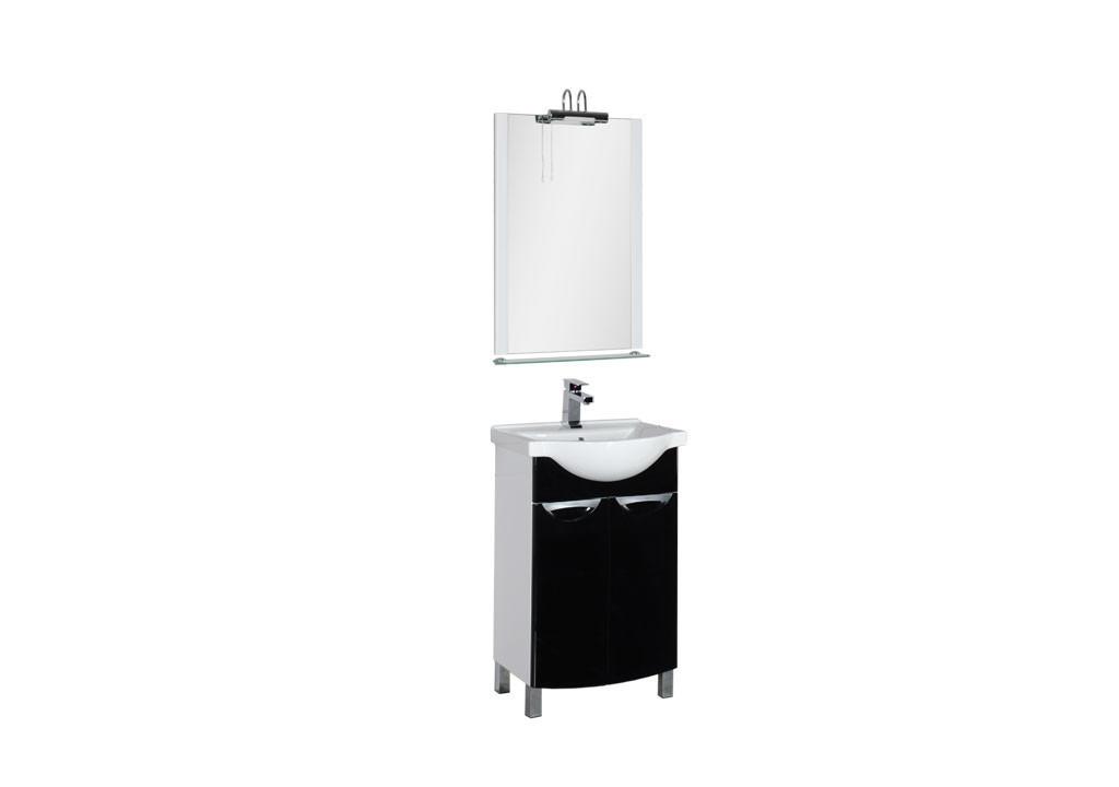 Комплект мебели Aquanet Асти 55 черный (2 дверцы)Комплекты мебели для ванной<br><br><br>Длина мм: 0<br>Высота мм: 0<br>Глубина мм: 0<br>Цвет: Черный