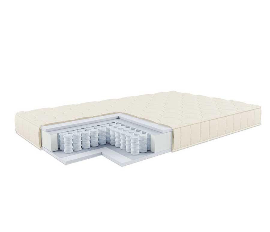 Матрас Люкс (независимый пружинный блок) 90x200Кровати<br><br><br>Длина мм: 2000<br>Высота мм: 160<br>Глубина мм: 900