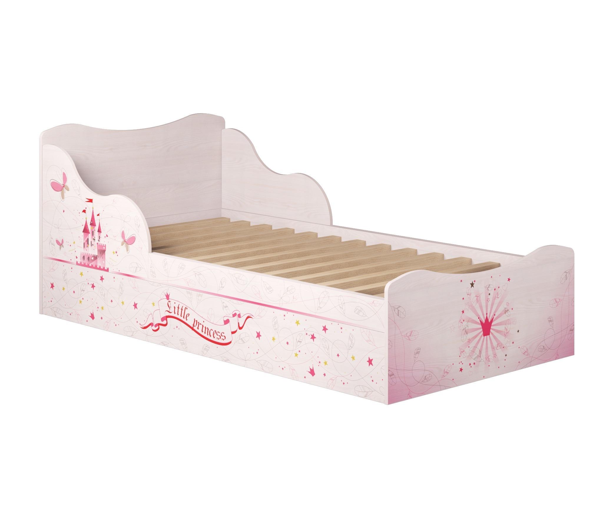 Принцесса 5 Кровать на 900 с ящиками (комплектация 1)Кровати одноярусные<br><br><br>Длина мм: 980<br>Высота мм: 758<br>Глубина мм: 1936