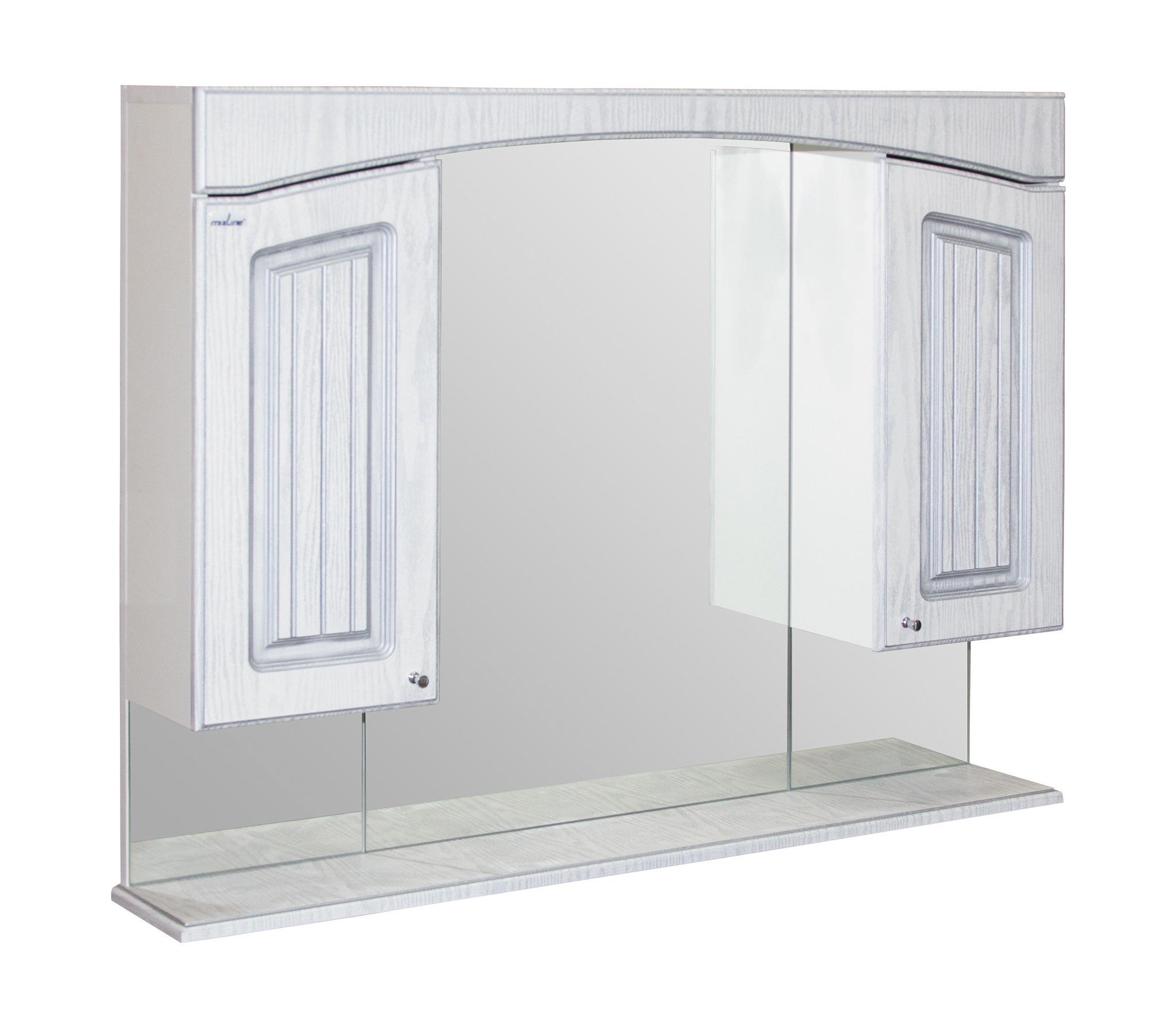 Шкаф навесной КРИТ-105 патина серебро без подсветки (ПВХ)