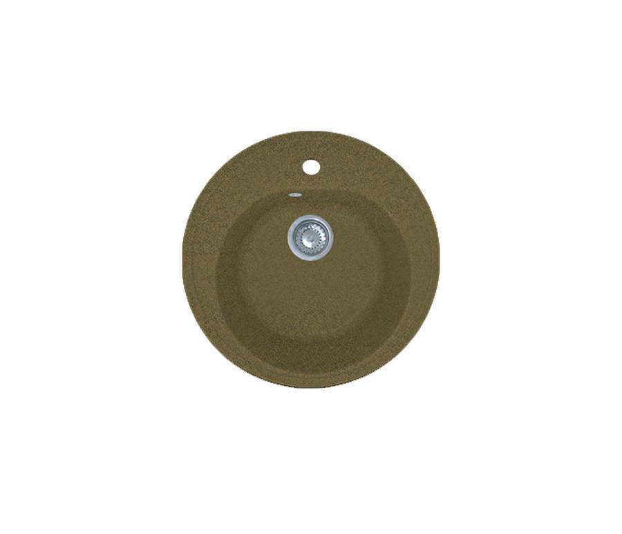 GRANFEST Мойка GF-R510 (терракот)Мойки, сушки, смесители<br>Мойка одинарная врезная изготовлена из прочного износостойкого материала, ее легко поддерживать в чистоте.<br><br>Длина мм: 510<br>Высота мм: 185<br>Глубина мм: 510<br>Мойки: true