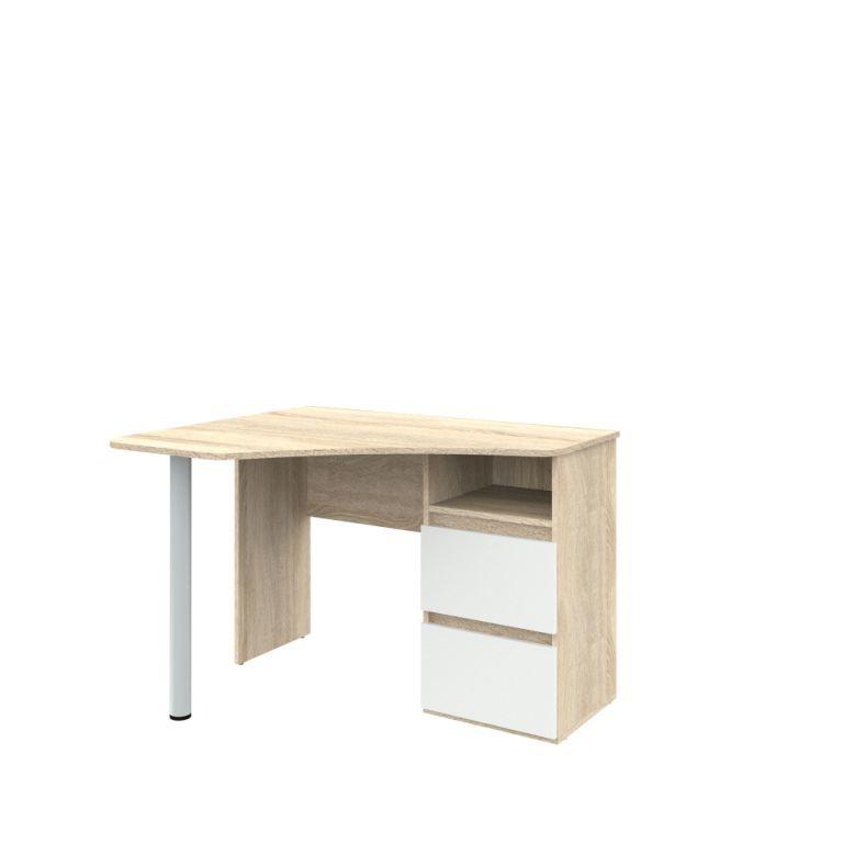 Угловой письменный стол РИНО 207Письменные столы<br><br><br>Длина мм: 1100<br>Высота мм: 750<br>Глубина мм: 900