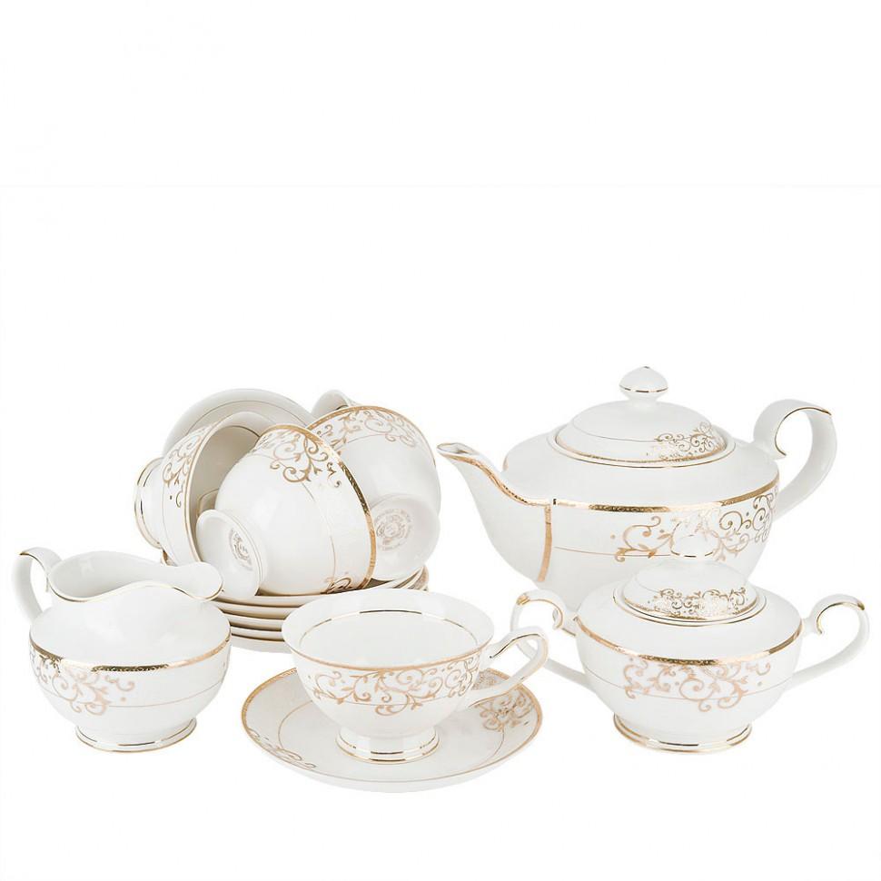 Сервиз чайный фарфоровый на 6 персон Ballet 15 предметов 1210056 rosenthal selection sanssouci elfenbein молочник для 6 персон 0 19 л